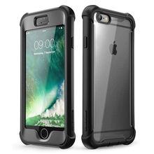 Funda para el iPhone 6 Plus/6 s Plus de 5,5 pulgadas serie i blason Ares funda de protección transparente resistente de cuerpo entero con Protector de pantalla integrado