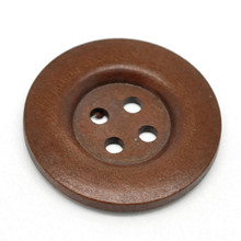 100Pcs Round 4 Holes Wood Sewing Buttons Wooden DIY Scrapbook Ornaments for Sweater Overcoat Clothing 40mm