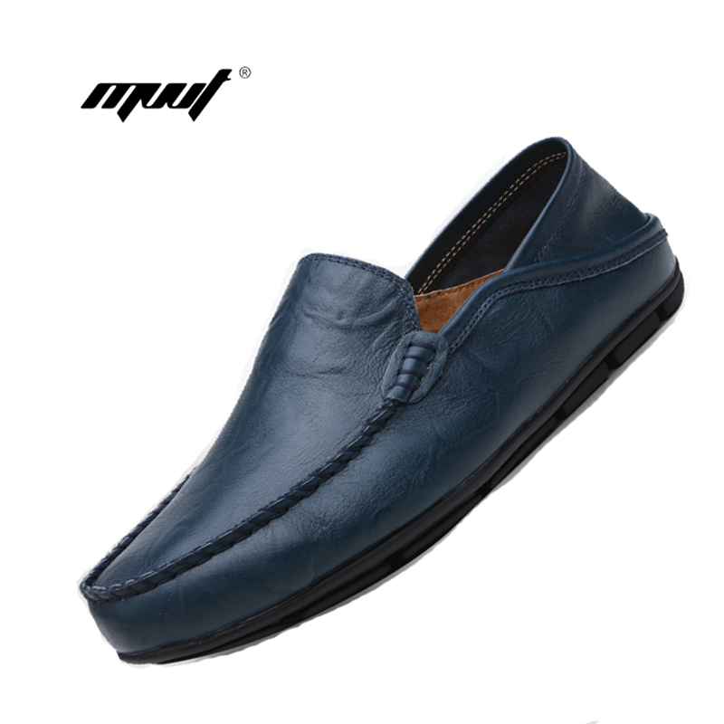Summer spring Breathable Genuine Leather Flats Loafers Men Shoes Casual shoes Luxury Fashion Slip On Driving Designer shoes 2017 new fashion summer spring men driving shoes loafers real leather boat shoes breathable male casual flats