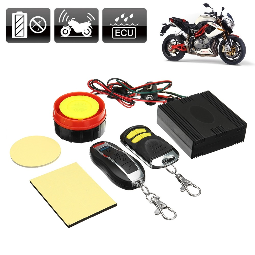 Mofaner 12V Motorcycle Motorbike Bike Scooter Anti-theft Security Alarm 125db 2 Remote