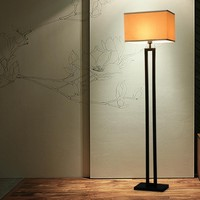 Chinese Modern Black Floor Lamp Flaxen Fabric Lampshade Standing Light For Living Room Bedside Home Decor Fixture E27 110 240V