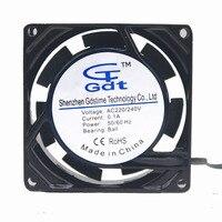 Gdstime 1 Piece 80x25mm PC Case AC Fan Ball Bearing 220V 240V 80x80mm Industrial Exhaust Metal