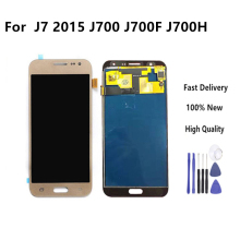 купить For Samsung J7 2015 Display LCD Display+Touch Screen Digitizer Assembly No Home Button For Samsung Galaxy J700 J700F J700M J700H недорого