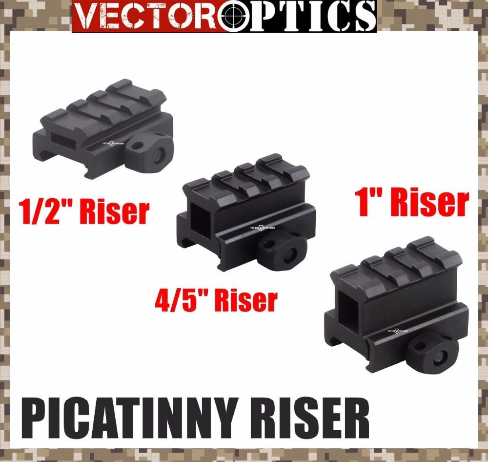 Vector Optics Compact 1/2 & 4/5 & 1 Inch Low High Profile Sight Weaver Picatinny Riser Rail Mount 3 Slots Fit AR Colt Bushmaster
