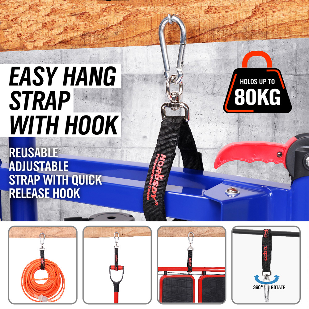 Brush Cutter Parts Aluminum Alloy Carabiner Hook Easy Hanging With Strap Multifunctional Quick Release Hiking Buckle Ad1005-2 steel quick release strap carabiner hook