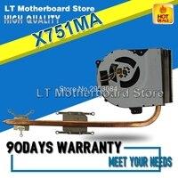 For X751MA K751M K751MD X751MD R752M R752M R752MD X751MD Cooling Fan Motherboard CPU copper Radiator Heatsink cooling Cooler