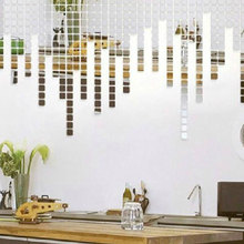 100PCS/Lot Mirror Wall Stickers Acrylic 3D Wall Sticker Decals Vinilos Paredes TV Wall Home Decor DIY Espelhos De Parede