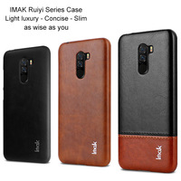 Imak Luxury Ruiyi Cases for Xiaomi Pocophone F1 Case Slim back cover phone shell hard PU PC coque Fitted Covers Phone Shell