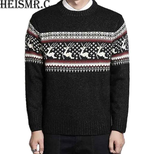 c new mens brand casual sweater men winter thick elk christmas sweater men wool - He Man Christmas Sweater
