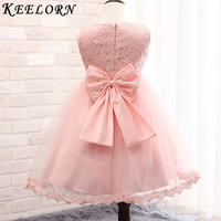 Keelorn Retail New Style Summer Baby Girl Print Red Flower Girl Dress For Wedding Girls Party
