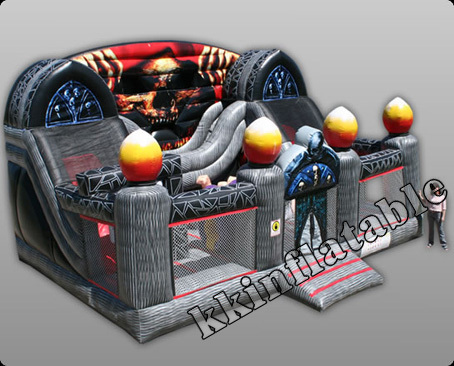 Horrible Halloween Event Ghost Inflatable combo party hire Ghost font b Bouncer b font and Slide