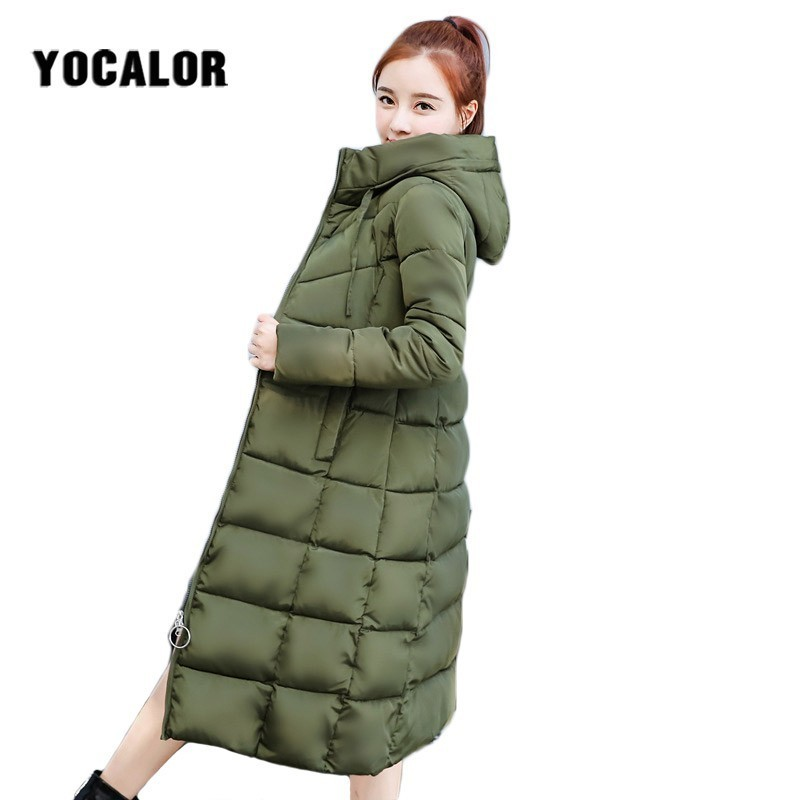 2018 Cheap Winter Long Coats Women's Cotton Coat Quilted Jacket Women Warm Parka Feminina Outerwear Duck Plus Size Ukraine Hood Chills And Pains