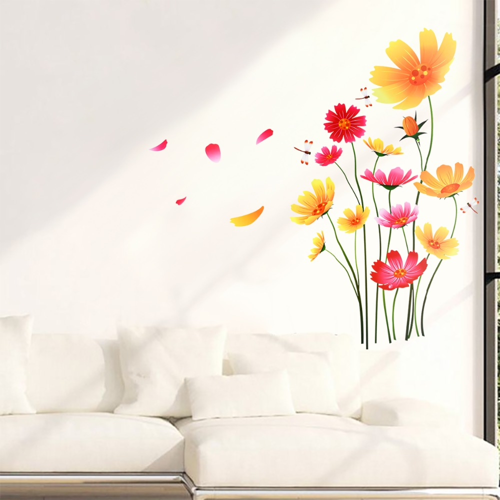 Up to 54 type Wall Stickers Vinyle Décalque DECOR FS 54 Butterflies with flowers