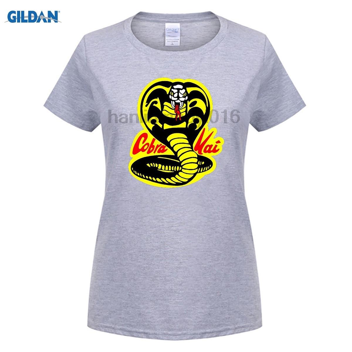 Возьмите хлопок o-образным вырезом Печать Мода футболка Karate Kid футболка Kai для женщин