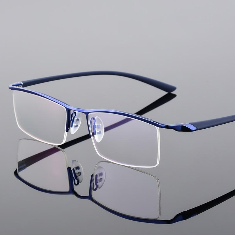 Browline Half Rim Metal Glasses Frame For Men Eyeglasses Fashion Cool Optical Eyewear Man Spectacles Prescription Frame P8190