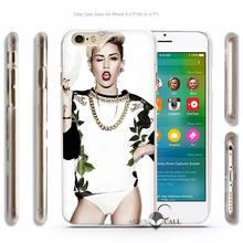 Miley Cyrus Hard Transparent Phone Case Cover for Apple iPhone 4 4s 5 5s SE 5C 6 6s 7 Plus
