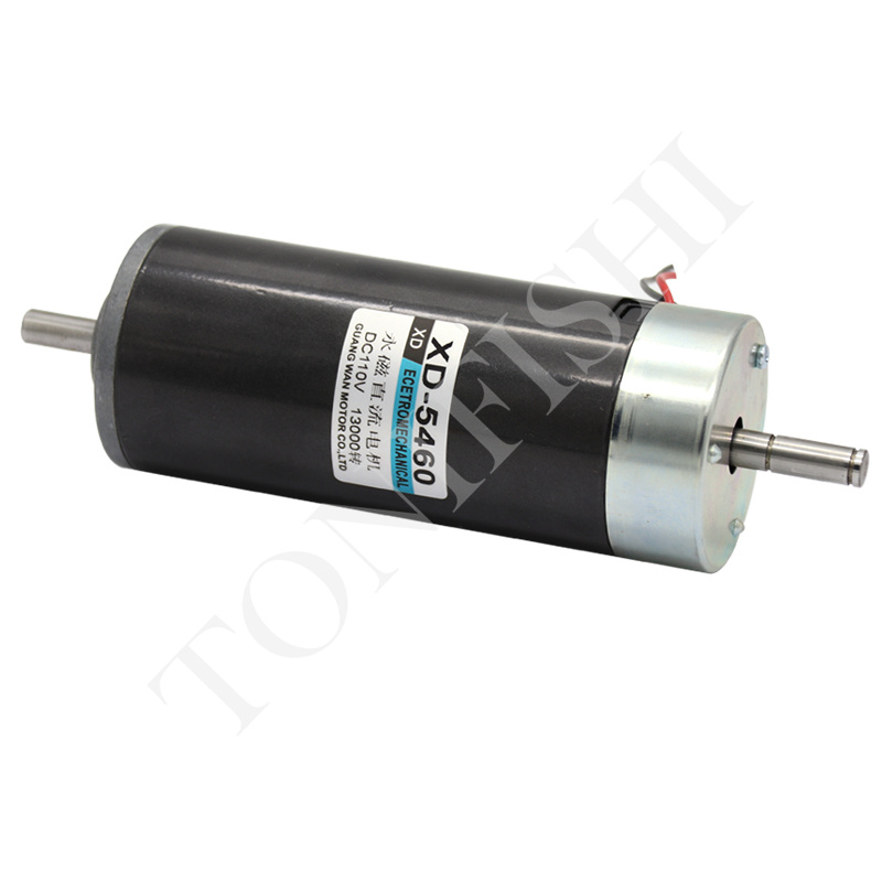 DC motor 500W dual output shaft high speed motor positive and negative permanent magnet speed regulating