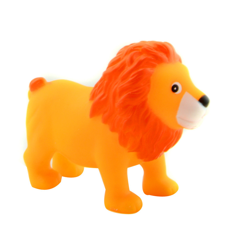 Starz Cute Mini Lion Soft Rubber Toy Squeeze Sounding Dabbling ...
