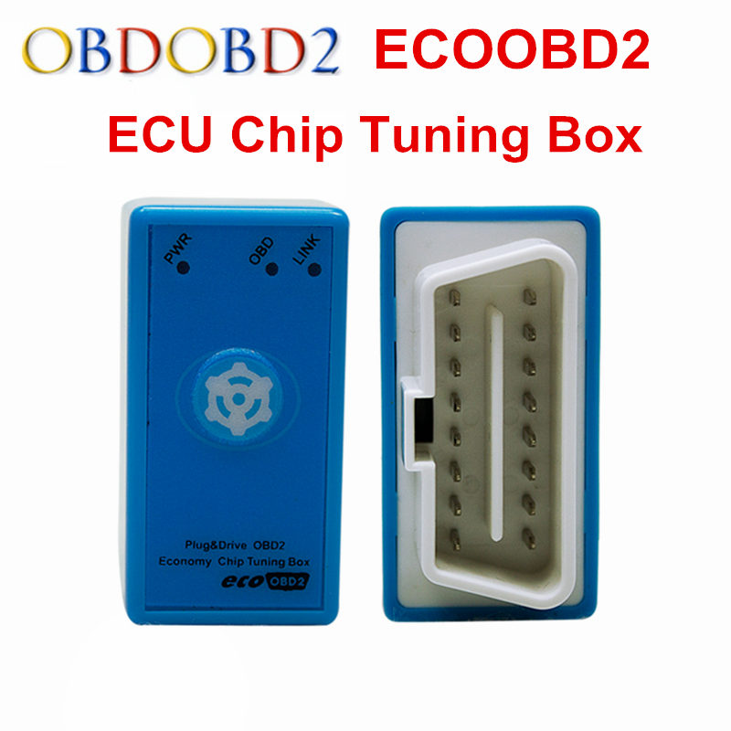 With Reset Button ECO OBD2 For OBDII Diesel Engine Chip Tuning Tool ECOOBD2 Decrease 15% Fuel Consumption Make Map Of Car's ECU