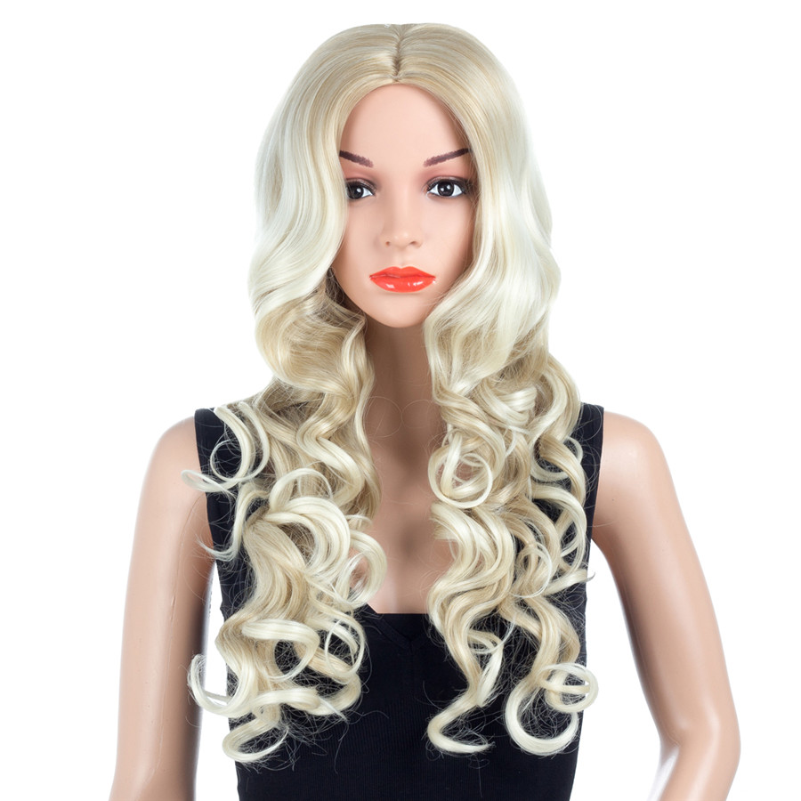 XCCOCO Hair Big Curly Hair Wigs with Baby Hair Body Wavy Synthetic Wigs for Women New Arrival