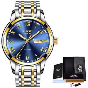 Image 5 - 2020 LIGE رجال الأعمال الساعات أفضل ماركة فاخرة موضة تاريخ ساعة الرجال كامل الصلب مقاوم للماء ساعة كوارتز Relogio Masculino + صندوق