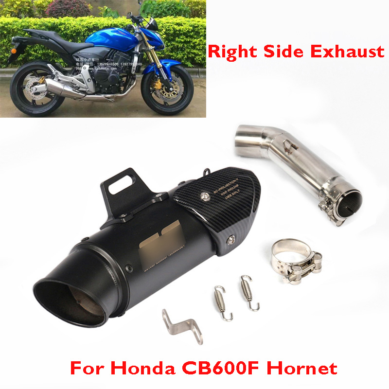 For Honda CB600F Hornet Motorcycle Exhaust Pipe System Escape Muffler Link Connect Tube Slip on CB600F