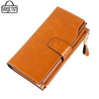 Luxury Women Genuine Leather Wallet Long Clutch Wallets High Quality Cowhide Design Women Purse Fashion Female