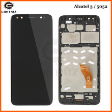For Alcatel 3 5052D 5052Y 5052 LCD Touch Screen Digitizer Glass LCD Display Assembly Replacement for alcatel one touch go play ot7048 lcd screen display touch screen digitizer assembly free shipping