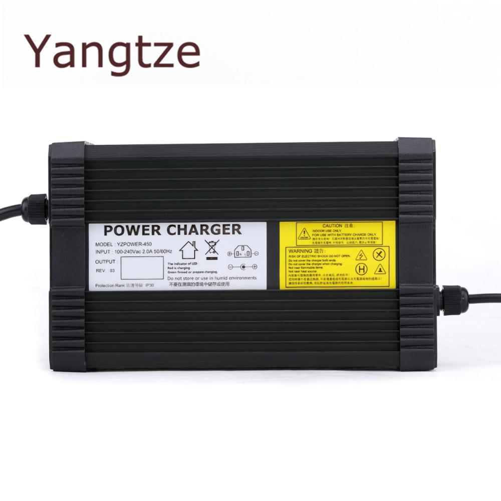 Yangtze AC-DC 43.2V 9A 8A 7A Lifepo4 lithium Battery Charger for 36V (38.4V) Power Polymer Scooter Ebike for Speaker & CD Player