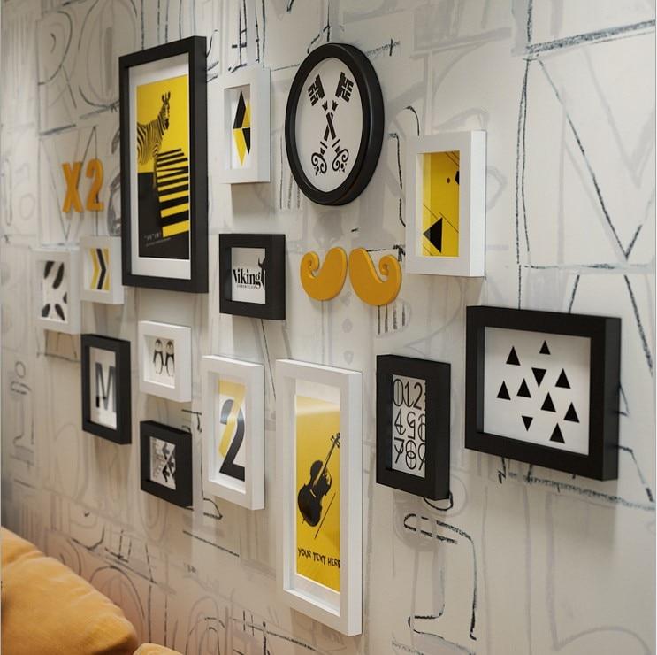 Modernen Minimalistischen Holz Fotowand Lascape Malerei Mehrere ...