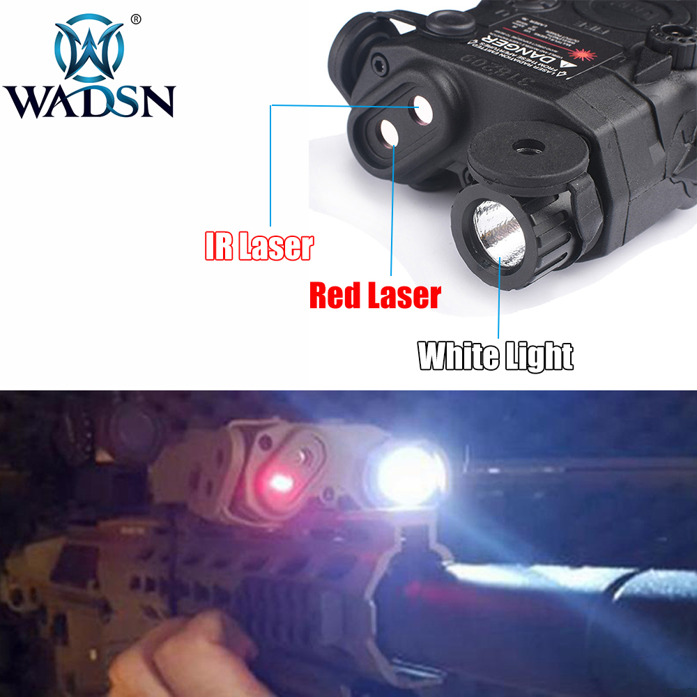 Image 2 - WADSN Airsoft LA 5 Red Lazer IR Laser LED Flashlight UHP Appearance IR laser PEQ 15 LA5C red lazer Tactical Weapon Light WEX396-in Weapon Lights from Sports & Entertainment