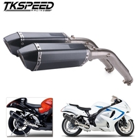 Motorcycle Exhaust Modified Muffler Middle Connector Link Pipe Slip On For Suzuki GSXR1300 2008 2015 Hayabusa GSX1300R Moto Part