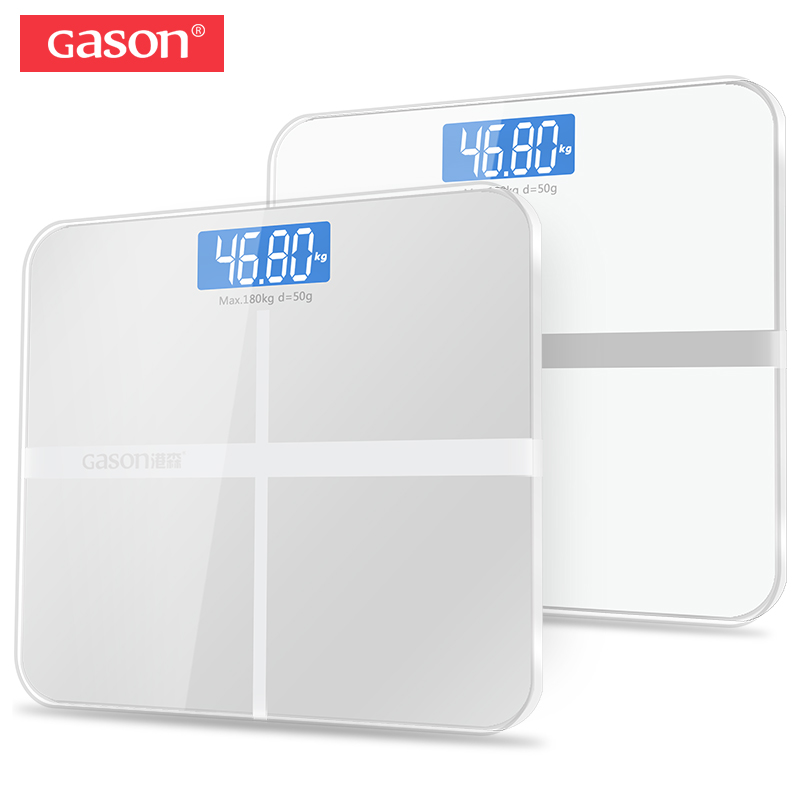 GASON A1 Accurate Bathroom Body Scale Smart Electronic Digital Weight Home Health Balance Toughened Glass LCD Display 180kg/50g
