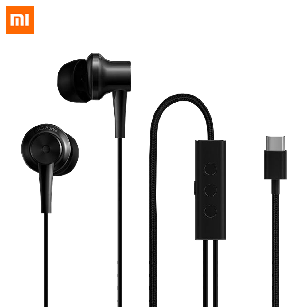 Newest Xiaomi ANC Earphone Type-C Version Active Noise Cancelling Hybrid HD In-Ear Earphone Earset for MI6 MI5 MI5S In Stock 100% original xiaomi hybrid pro hd earphone with mic in ear hifi noise canceling headset circle iron mixed for xiaomi note4 mi 6