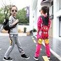 Дети Девушки комплект одежды осень девочек-подростков спортивный костюм Микки печати школа детская одежда спортивный костюм 2 шт. 4 ~ 13 Т одежда для девочек
