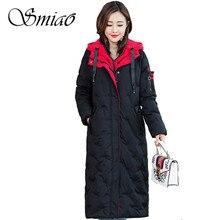 Smiao Fashion Winter Jacket Women Parka 2018 Casual Winter Coat Woman Black Plus Size Female Parkas 4XL Hot High Quality L-5XL
