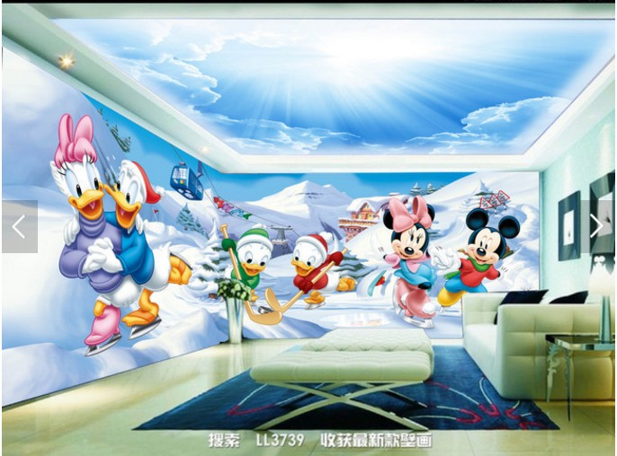 Buy large custom mural wallpaper 3d for Children s mural wallpaper