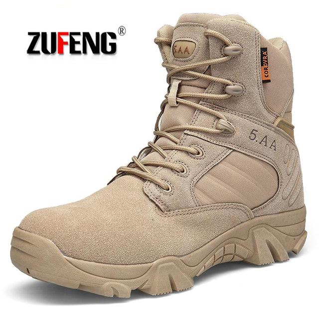 High-quality Waterproof Men Hiking Shoes Special Forces Tactical Combat Army Boots Anti-Slip Sneakers Breathable Trekking Shoes