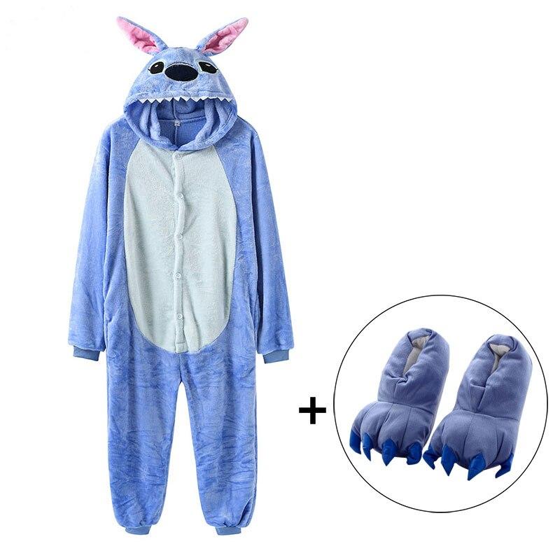 Onesie Kids Slippers Kigurumi Stitch Children Adult Women Animal Pajama Suit Party Funny Animals Pijama Boys Sleepwear Onesies