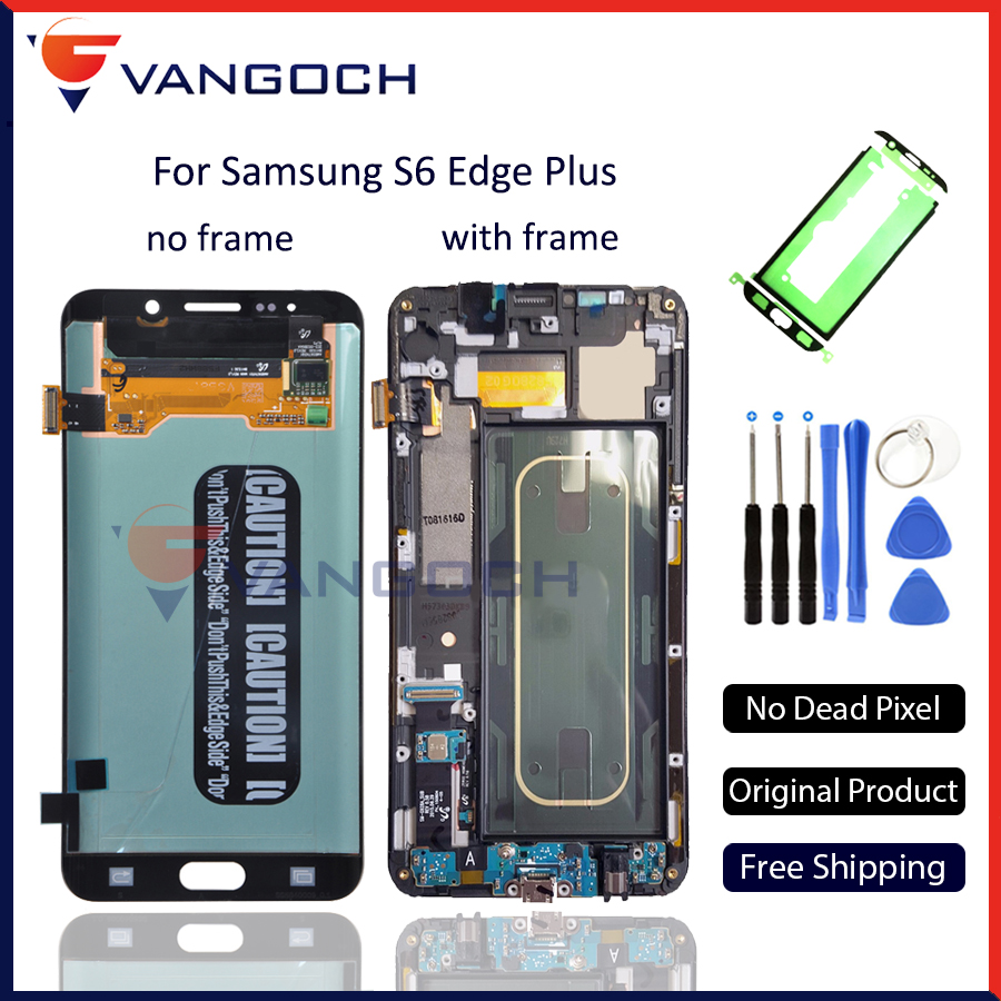 Original Super Amoled Display For Samsung Galaxy S6 Edge Plus G928 G928F LCD Touch Screen Digitizer Assembly Replacement