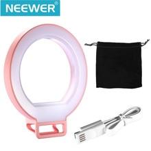 """Neewer 5 """"/12.5 cm rosa regulable autofoto clip-on de luz anillo de luz de flash con 3 nivel de brillo para iphone 7/6 s/6/5/samsung/xiaomi"""