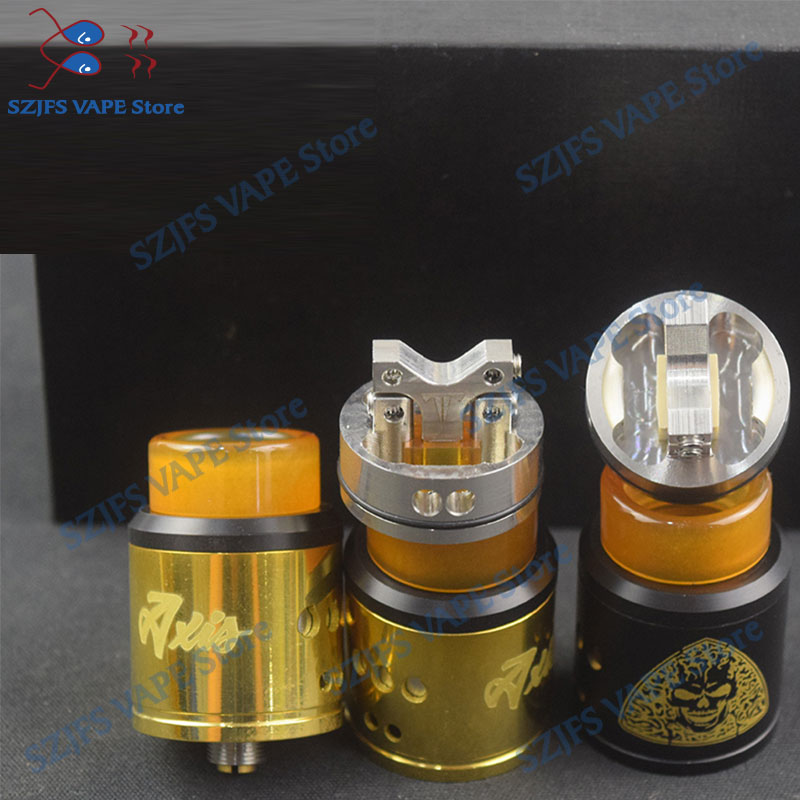 Axis RDA Electronic Cigarette Atomizer 24mm Brass Tank Rebuildable Dripping Atomizer Adjustable Fit Tower Mod Vs Armor S RDA