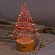 Christmas Tree 3D Effect LED Table Lamp USB Powered Night Light Table Light for Bar Home Restaurant Office Cafe(China)