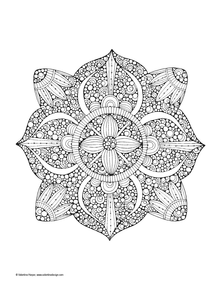 Mandalas Fantasy Creative Coloring Book For Adult Relieve Stress ...
