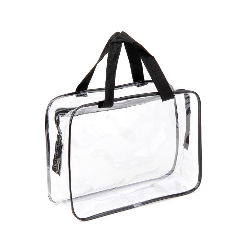 Large Size Environmental Protection PVC Transparent Cosmetic Bag Women Travel Make Up Toiletry Bags Makeup Organizer Case