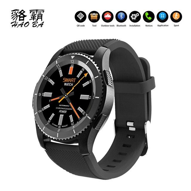 cc1e2a608e9 G8 Multifuncional Relógio Inteligente Monitor De Freqüência Cardíaca Do  Bluetooth 4.0 Cartão SIM Relógio de Pulso