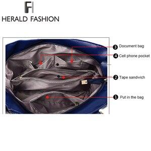 Image 5 - ヘラルドファッションデザイナーの女性のハンドバッグ女性のpuレザーバッグハンドバッグレディースポータブルショルダーバッグオフィス女性ホーボーバッグトートバッグ