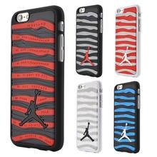 "3D Fashion Jordan Case For iPhone 6 4.7 inch / 6s Plus 5.5"" Sport Basketball Jordan Stripe Design Hard Plastic Cover Phone Cases"