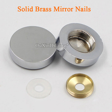 DHL Shipping 500PCS Solid Brass Advertisement Nails Screws Acrylic Billboard Glass Mirror Cover Decorative Hardware