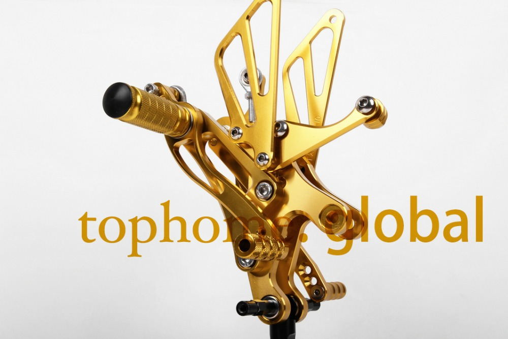Motorcycle Golden CNC Rearsets Foot Pegs Rear Set For Yamaha YZF R1 2002-2003 motorcycle foot pegs